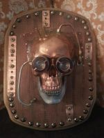 Custom Steampunk Skull Plaque by Design-reality