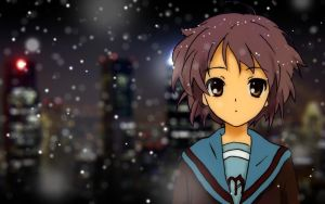 Nagato Yuki Wallpaper by a-xir
