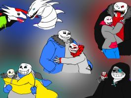 Undertale AUs: The Many Forms of E.C by BlackDragon-Studios