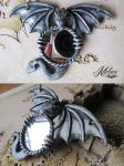 Dragon mirror necklace by Melian-art