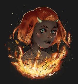 Girl On Fire by Sofalein