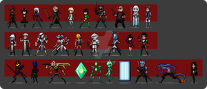 OC Sprites (Red Ronin Anthology) by Lee-Sanixay