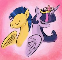 Twilight and Flash by itena