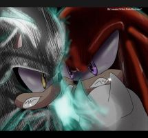 Knuckles vs Silver by sonamy94fan