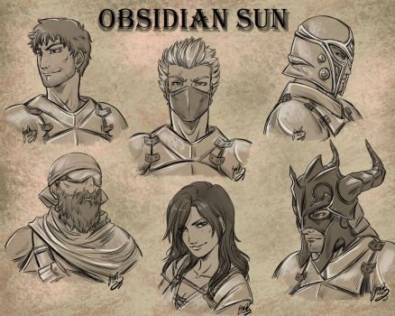 Obsidian sun - sketches by draupnis