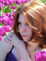 Miss B in the tulips 2 by JensStockCollection