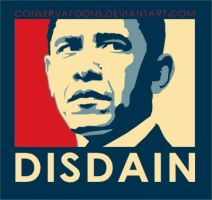 Obama Disdain by Conservatoons