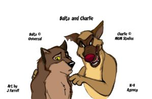 Balto and Charlie Color by darkmane