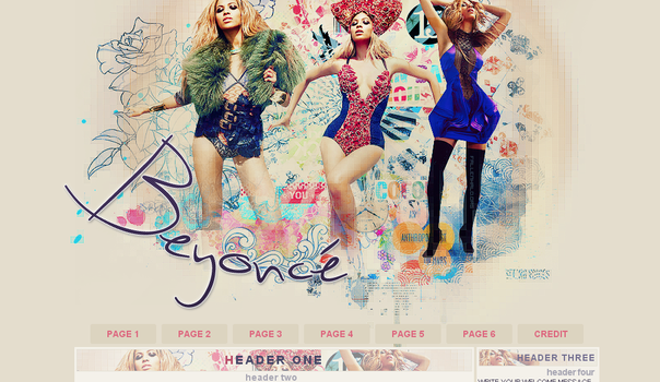 Beyonce Knowles Domain Layout by FallennHalo