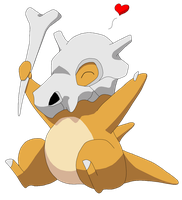 Cute Cubone by CharmingWolfNikki