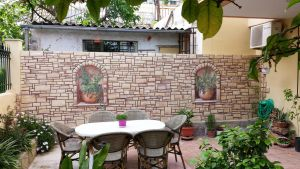 stone wall mural by depyy