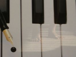 Piano Reflection by Wh4T