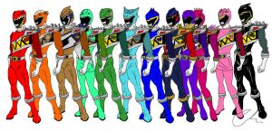 My Kyoryuger Rainbow by LavenderRanger
