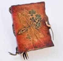 Red Dragonfly Leather Journal by gildbookbinders