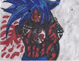 Bloody Black Lantern Madara by ChahlesXavier