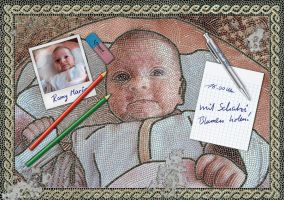 Baby Mosaic with pencils by maneus