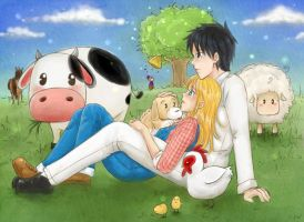 Harvest Moon - Break time by Mila-Valentine