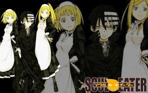 SoulEater-Kid,Patty,Liz :Maid: by loly-chan123
