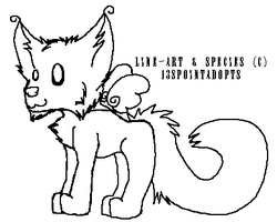 Cartoon Kitty Lineart FREE by 13sPointAdopts