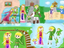 The Legend of Zelda: One Big Family - Colored by Zelda5