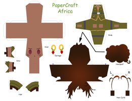 APH Paper Craft: Africa by GeekyKitten64