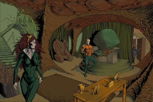 Aquaman's Throne Room Color 3 by craigcermak