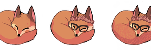 Sleeping Foxes by foxtribe