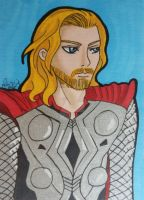 Thor ACEO card by LadyNin-Chan