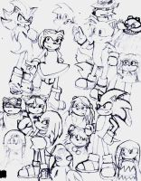 Sonic Style Sketch Full by Xiangcao-Swyong