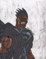Angered Black Lantern Superman by ChahlesXavier