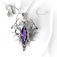 XAGHNYR - silver and amethyst. by LUNARIEEN