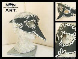 Carnival Crow Mask - Handmade Leather Mask by nondecaf