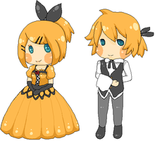Servant of evil - Rin and Len by chibimoozie