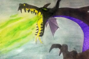 Maleficent Dragon [finished and painted] by ZoraSteam