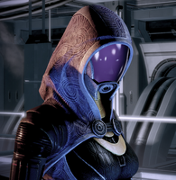 Thinking Tali'Zorah by Namz89