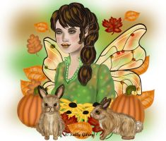 Autumn witch print 1 by sallygilroy