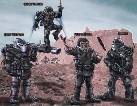 Sontaran Army by DarkAngelDTB