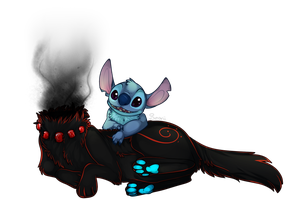 stitch and Zevi by Searii