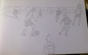 One Piece vs. Square Enix - Soccer by Merevy1706