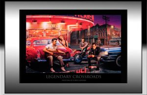 Legendary Crossroads Painting with Frame by fastz28camaro1981