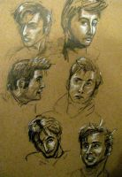 David Tennant sketches by SeraphimSeranade