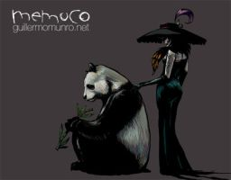 """The Silent One"" and thelast Panda by memuco"