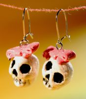 Sparkly Skulls with Bow by Pinkatron2000