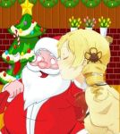 MAMI KISSING SANTA?!?! by superluigilink