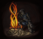 By the Warmth of the Bonfire by Xathoa