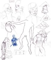Sketch pile by jaffaanonymous