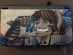 Canis armored Yuie Custom 3DS case [commission] by Count-Vilanova