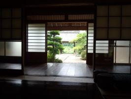 Scenery seen from the room of a temple by VHosoe