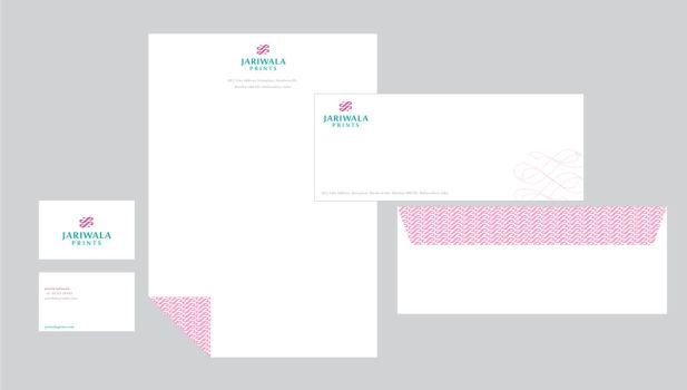 Jariwala Prints stationery 3 by grafficjam