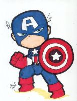 Chibi-Captain America 2 by hedbonstudios